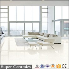 cheap vitrified crystal white glass porcelanato floor tiles