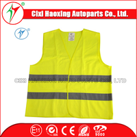 Highway Safety CE/EN471 Factory 100% Polyester Orange/Yellow Car Reflective Tape Safety Vest