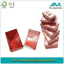 China supplier low MOQ luxury glossy lamination box with lid laminated material toy packaging box