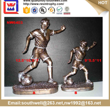 Polyresin oem 3d sex football player resin figurine