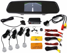 Car Vehicle Rearview Mirror Monitor with High-tech Processing Parking Assistance System 4 Parking Sensor Rear View Camera