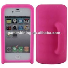 Soft Rubber Mug Case For IPhone 4 /IPhone 4s Accessory