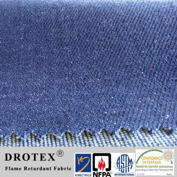 NFPA2112 100 Percent Cotton Fire Retardant Denim Fabric