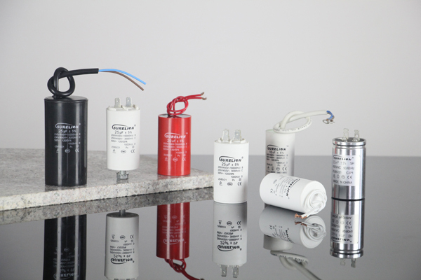 Motor run compressor capacitor