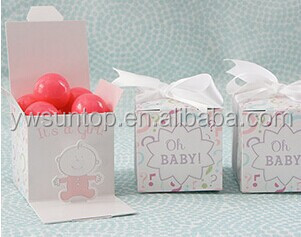 "2016 ""Oh, Baby!"" Gender Reveal Favor Box (Girl or Boy)"