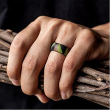 Silicon black wedding band ring