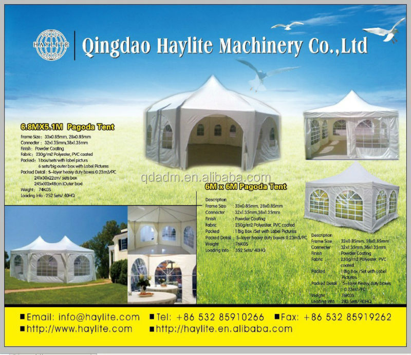 party pagoda tent with PE or PVC