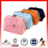 Cosmetics storage bag portable double zipper make up case with light cosmetic bag(ES-H045)