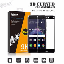 2017 newest tempered glass premium screen protector for huawei p8 P9 lite full cover OEM