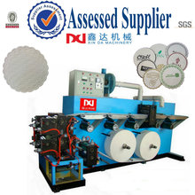 Automatic edge embossed counting paper cup tray convert machine