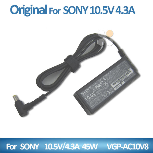 power bank adapter for Sony 10.5V 4.3A 45w VGP-AC10V8 4.8*1.7mm yellow US standard