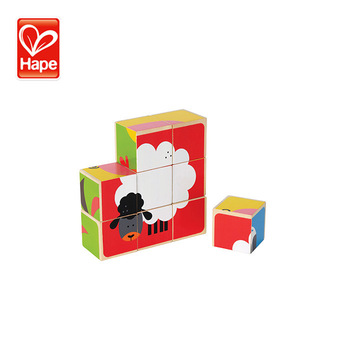 Hot sale kids wooden building block toy