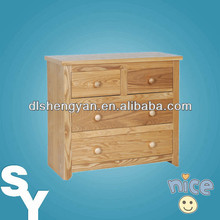 Wooden 2+2 Drawers Chest KD Home Storage Furniture