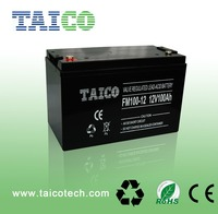 Free maintenance rechargeable 12V 100Ah Sealed Lead Acid Battery for emergency lights