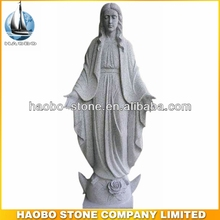 Holy Virgin Mary Blessed Mother Granite Statue