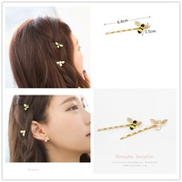 Bee Hairpin Korean Style Hornet Hairgrips Jewelry Hair Clip for Women Hair Accessories 100pcs/lot free shipping