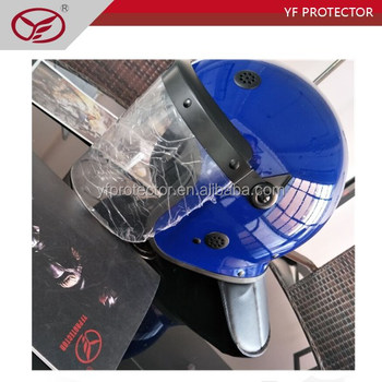 Police and army ABS Blue Anti riot safety helmet with visor
