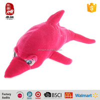 Factory stuffed toys marine animals red dolphin for children