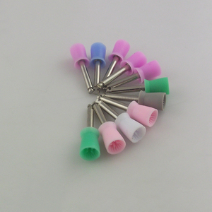 Factory supply attractive price nylon dental colorful polishing brushes