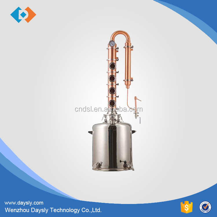 Wenzhou Stainless steel alcohol distillation equipment with copper column for sale
