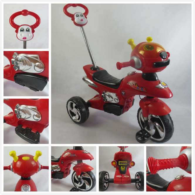 CE approved 2017 hot sale popular new children tricycle with musical and flashing head /tricycle for baby new model A-9 top sale