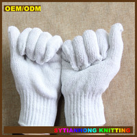 women hand warmers fingerless cheap white cotton gloves