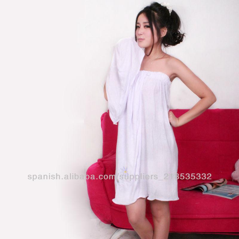 Material de la toalla albornoz verano y barh falda - Toalla albornoz ...
