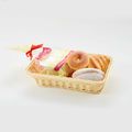 Unique design handmade supermarket display basket for bread