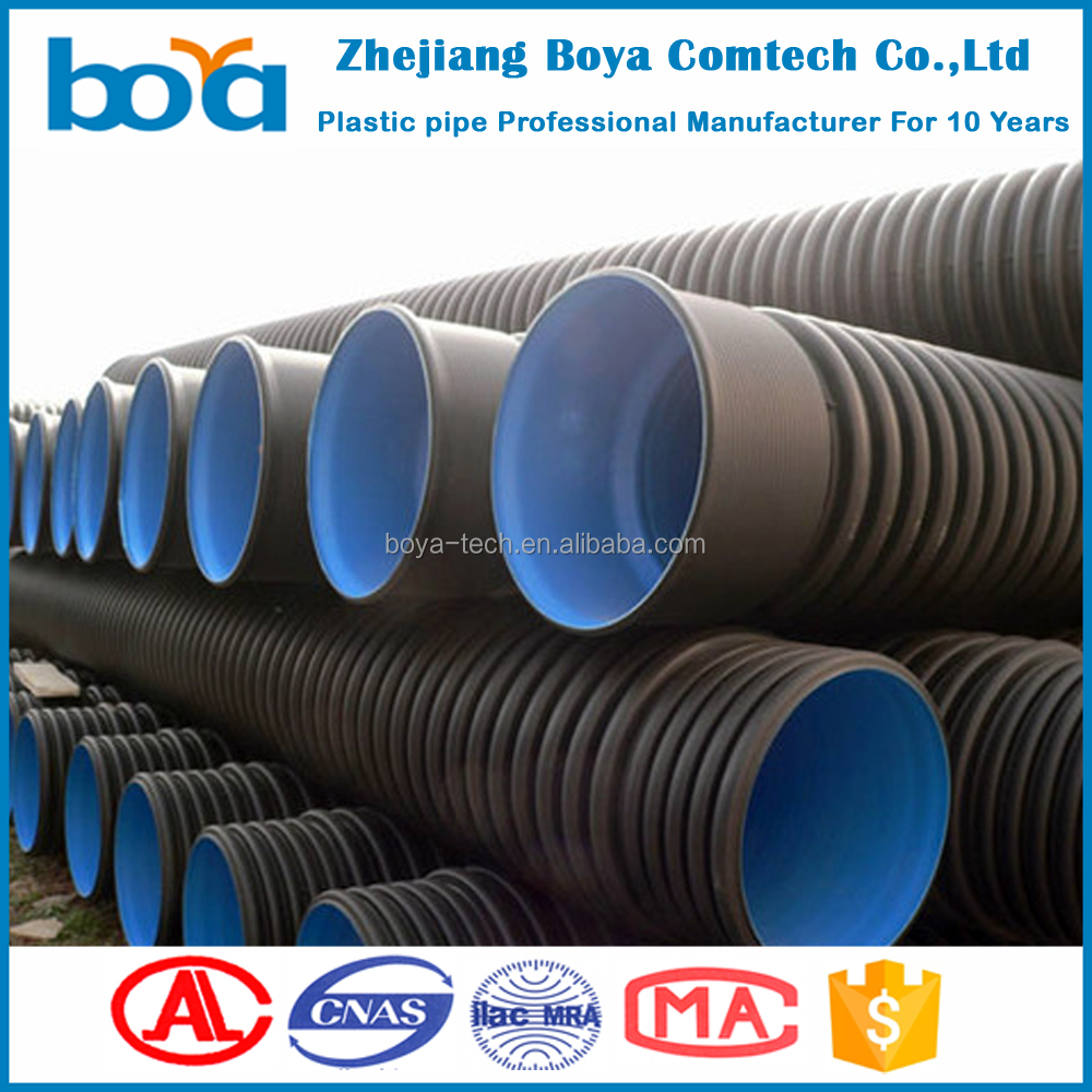 large diameter corrugated drainage pipe