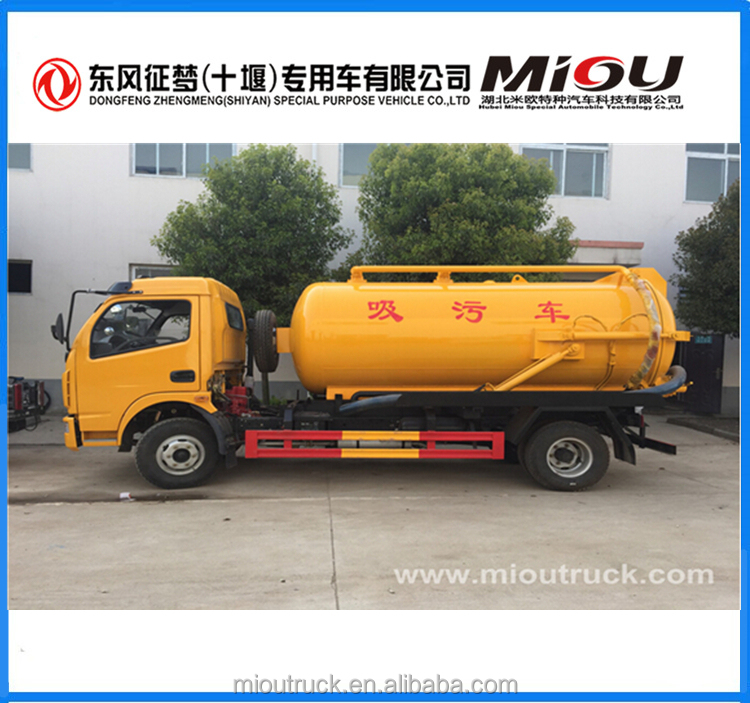 New Design Sewer Suction Trucks 5000-10000Liters Vacuum Tank for Sludge Sewage, dirty water, Fecal Transportation