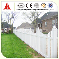 Wooden artificial garden fence used for home
