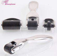 Face skin derma roller portable microneedle roller system for Increased penetration of substances