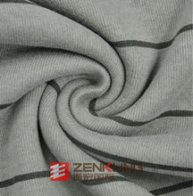 CVC Printed French Rib fabric for winter garment soft and warm high density