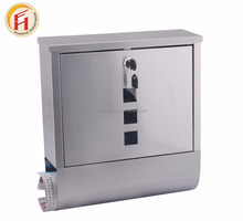 Hot selling Wall Mounted Mail box Galvanized Steel waterproof Mailbox , stainless steel letter post
