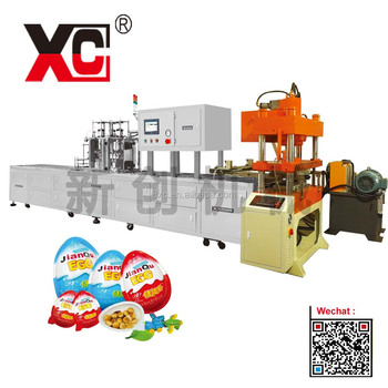 surprise chocolate egg auto welding sealing cutting machine
