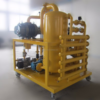 Automatic Back Flushing ZYD Series Double Stage Vacuum Oil Filtering Equipment