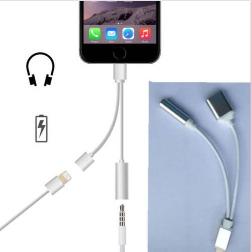 2016 For iphone 7 3.5 mm 2 in 1 Headphone Jack Adapter for iPhone 7 Plus Cable Adapter