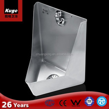 Bathroom stainless steel wall hung corner used urinals for sale
