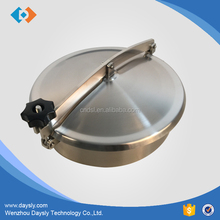 Stainless steel Sanitary tank manhole cover without pressure