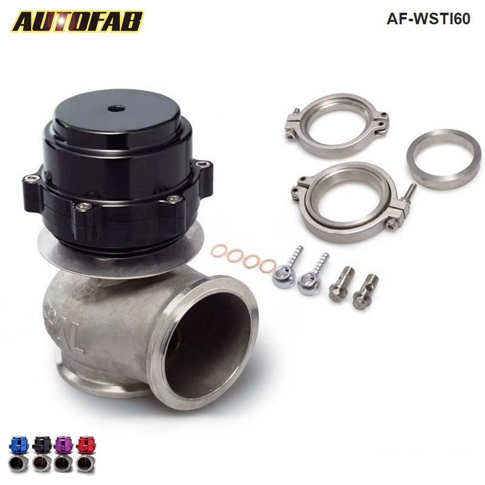 AUTOFAB - Universal Billet Aluminum Car 60MM Vband V60 Turbo Wastegate For Honda Mazda Toyota AF-WSTI60