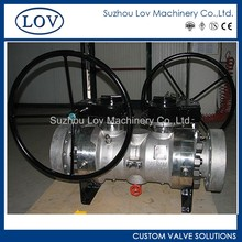 Custom Excelemt Quality Gear Operation Trunnion Mounted Flange Double Block Ball Valve