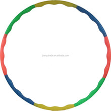 Wholesale plastic detachable plastic kids light Hula Hoop and durable gymnastics hoop with high quality