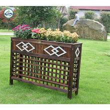 outdoor decor timber planter box for sale