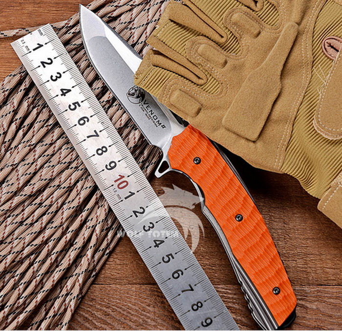 KEVIN JOHN VENOM <strong>2</strong> Bearing Flipper Folding knife <strong>G10</strong> Handle Outdoor Tactical Hunting knife EDC tools