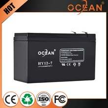 High safe valve regulated agm lead acid 12v dry cell battery ups