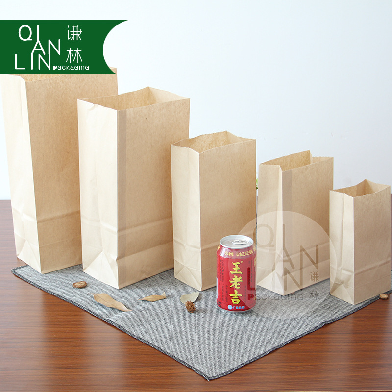 Eco-friendly Food Grade SOS Brown Kraft Paper <strong>Bags</strong> with Customized Size
