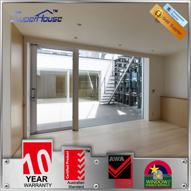 Industrial heat insulation glazing automatic sliding door system