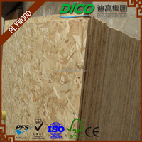 15mm Melamine OSB 3 (Oriented Strand Board) for furniture
