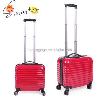 16 Inches PC Travel Trolley Bags With 4 Spinner Wheels