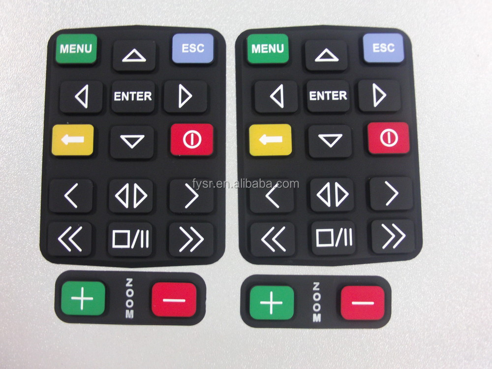 Goood Quality OEM silicone rubber press keypad